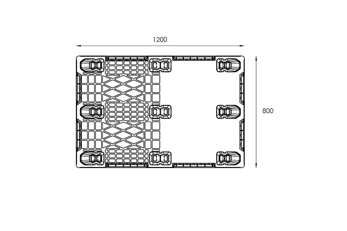EXP 115 EURO PLASTIC PALLET 4