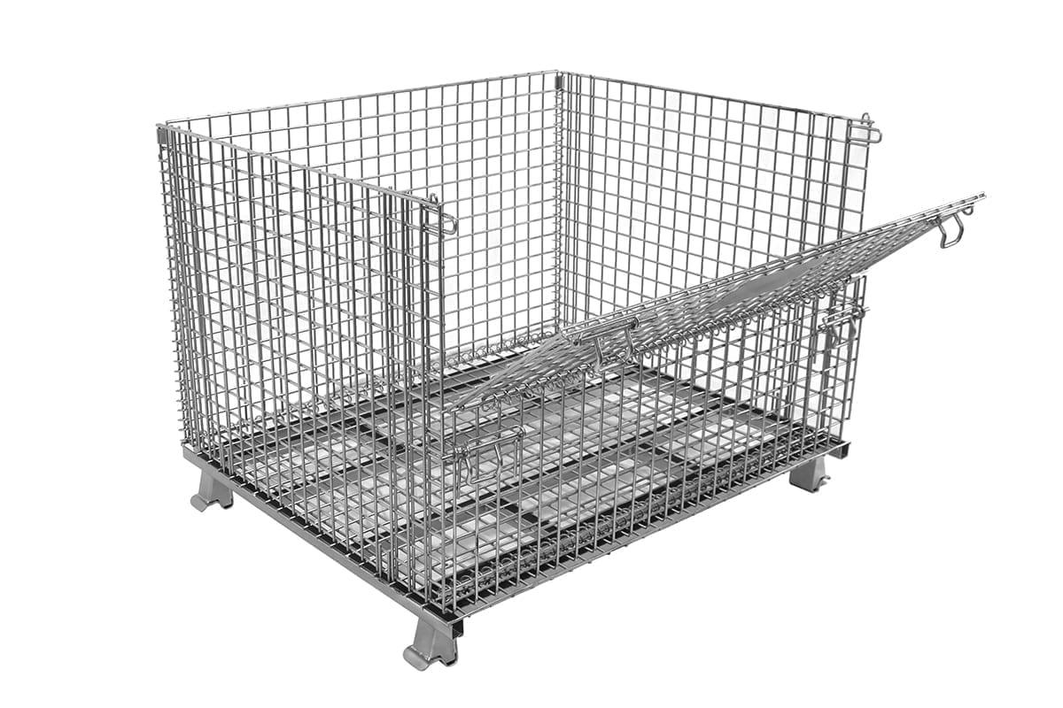 Large Dropgate Wire Basket
