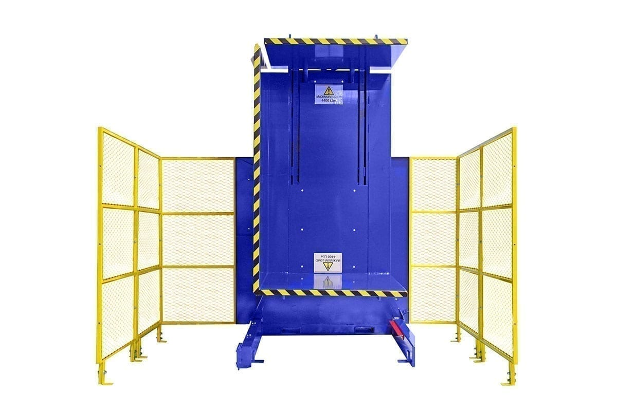 6. Single Clamp Fs 2200 Push Button Control With High Style Guarding Pallet Inverter