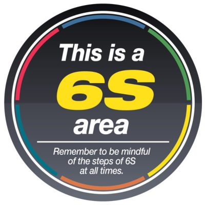6S Area Sign
