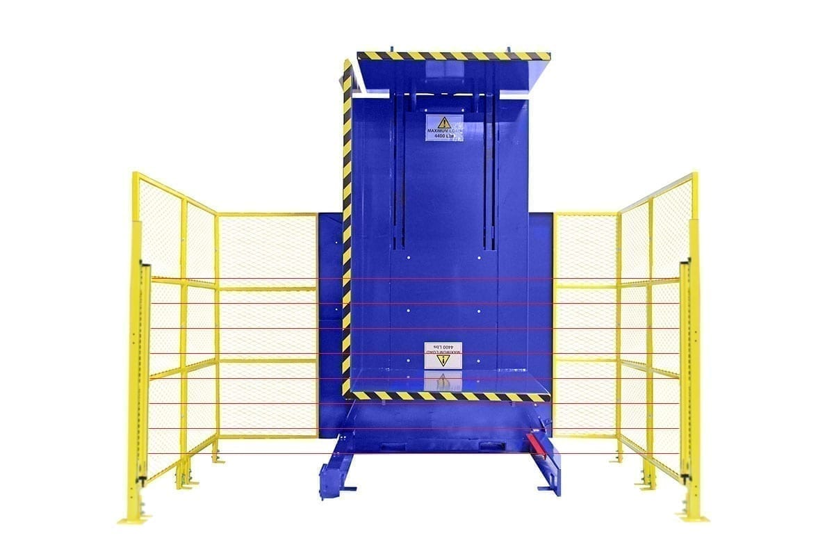 7. Single Clamp Fs 2200 Push Button Control With High Style Guarding - Light Curtain Safety Package Pallet Inverter