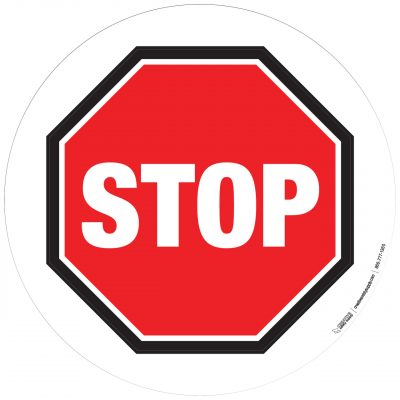 Basic Stop Sign with White Background