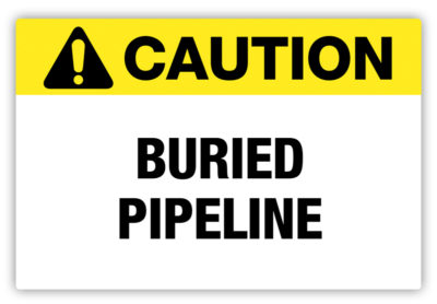 Buried Pipeline Label