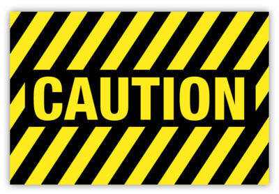 Caution Label Striped