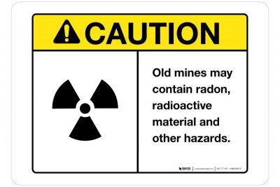 Caution-Old-Mine-Hazards-Wall-Sign