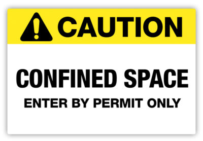 Confined Space Label