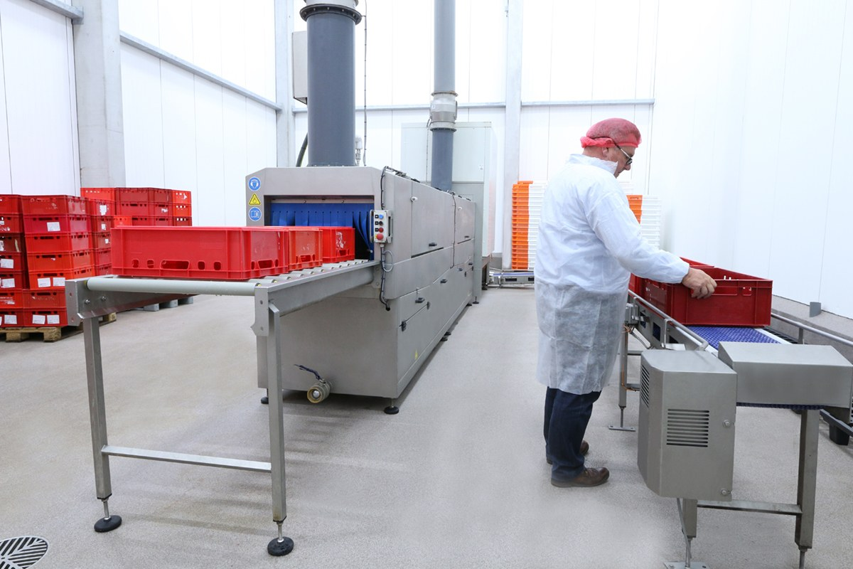 Crate Washing Meat Industry