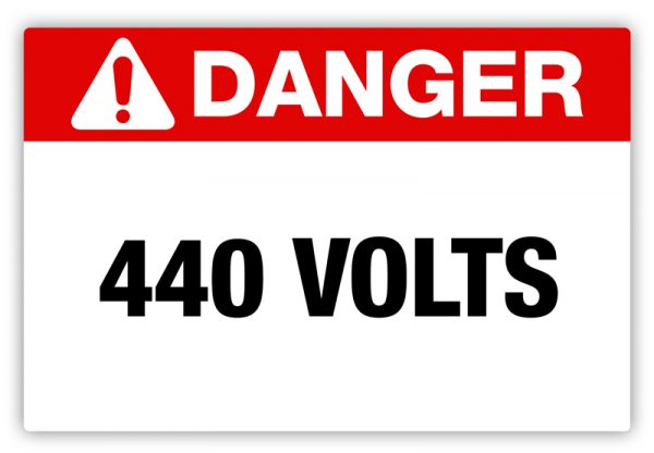 Danger – 440 Volts Label