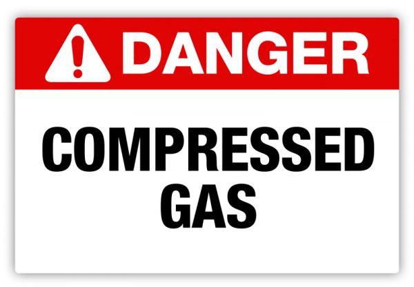 Danger – Compressed Gas Label