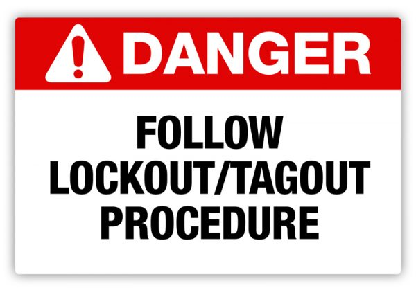 Lock Out Tag Out Label