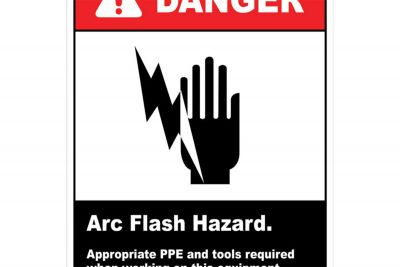 Danger-Arc-Flash-Hazard-PPE-Required-Wall-Sign