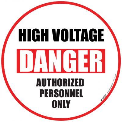 Danger High Voltage Personal Floor Sign