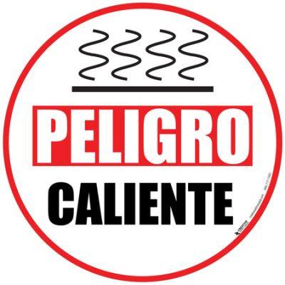 Danger Hot Floor Sign - Spanish - Peligro Caliente