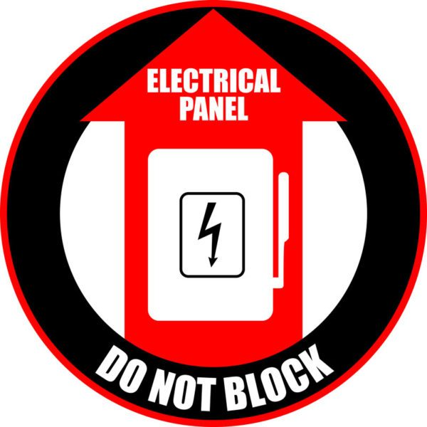 Electrical Panel – Do Not Block Sign