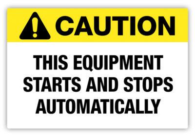 Equipment Automatic Label