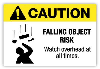 Falling Object Risk Label