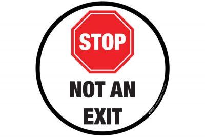 Floor-Sign-Stop-Not-an-Exit