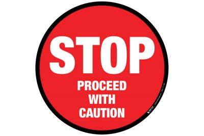 Floor-Sign-Stop-Proceed-with-Caution
