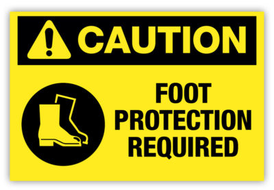Foot Protection Required Label
