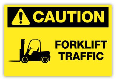 Forklift Traffic Label