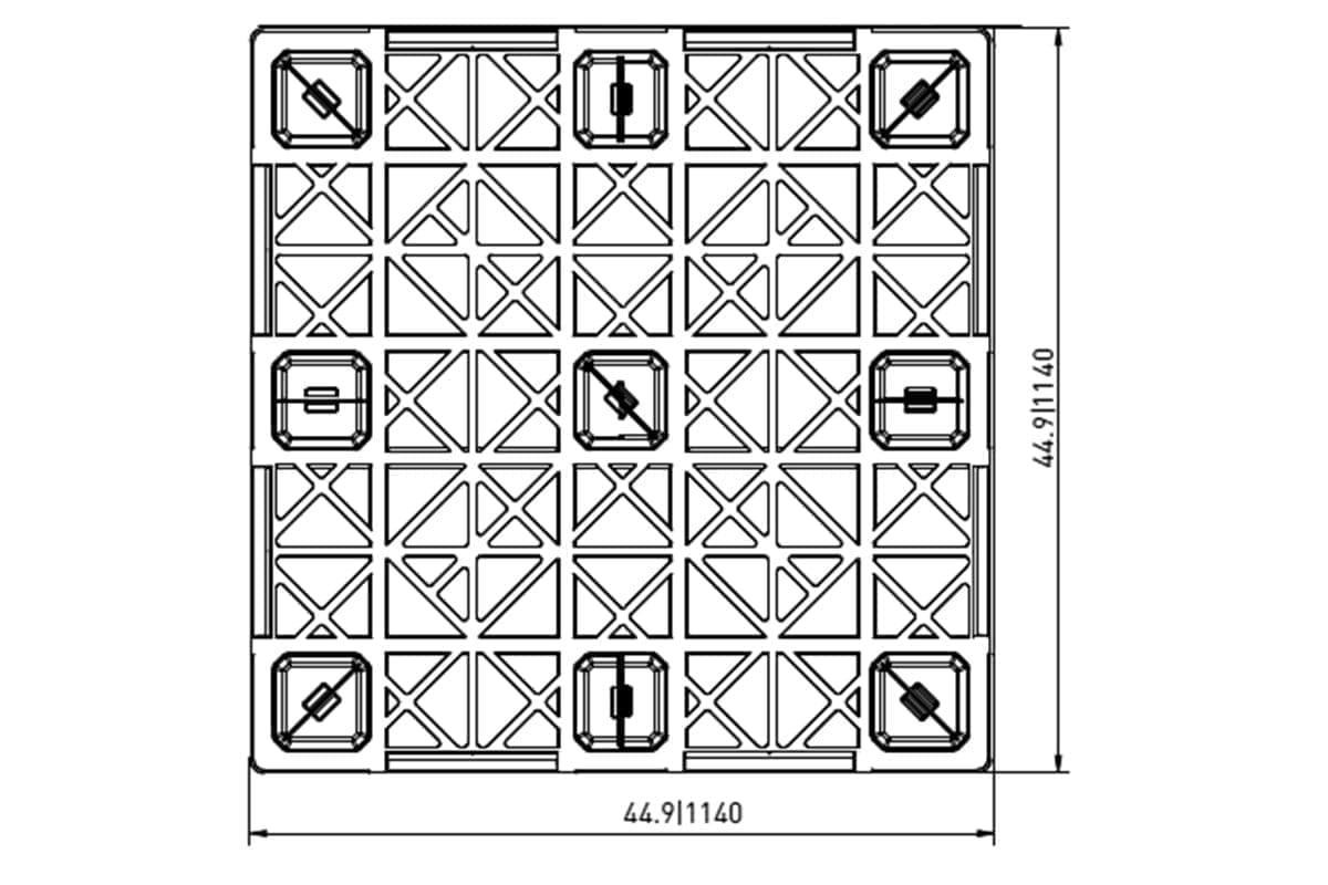 EXP 446 PLASTIC PALLET 2
