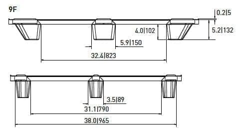 EXP 103 PLASTIC PALLET 1
