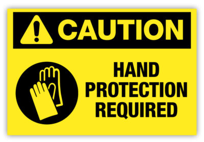 Hand Protection Required Label
