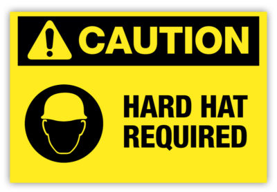 Hard Hat Required Label