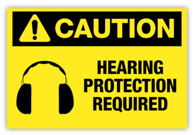 Hearing Protection Required Label