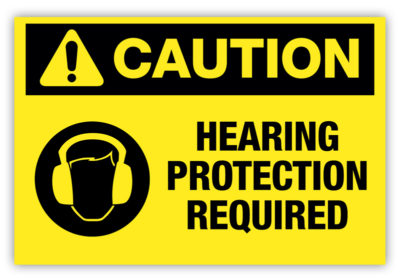 Hearing Protection Required Label Version 2