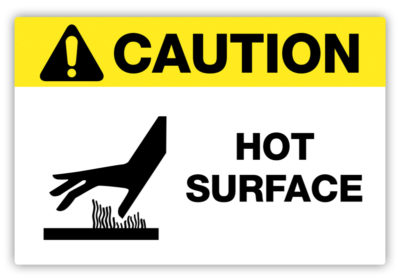 Hot Surface Label