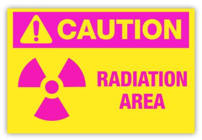 Radiation Area Label