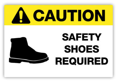 Safety Shoes Required Label