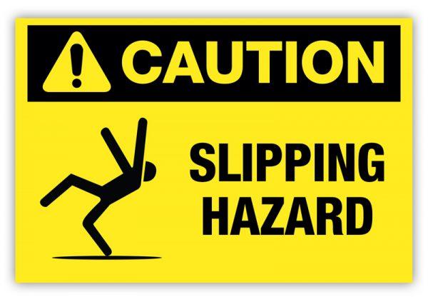 Slipping Hazard Label