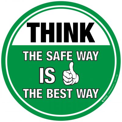 THINK – The Safe Way is the Best Way Sign