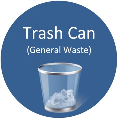 Trash Can General Waste Sign