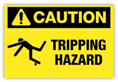 Tripping Hazard Label
