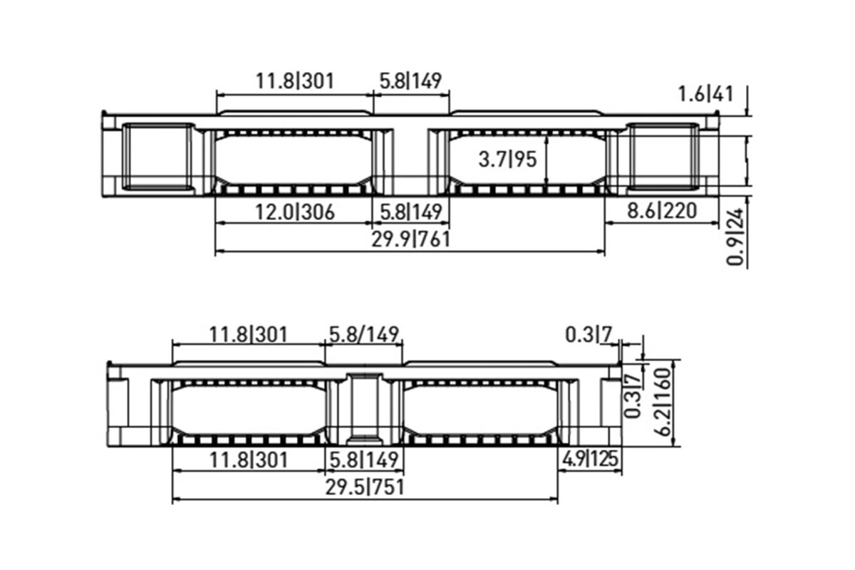 RCK 745 PLASTIC PALLET 7