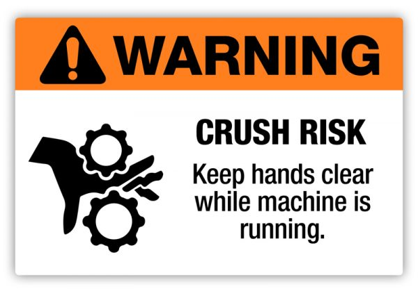 Warning – Crush Risk Label