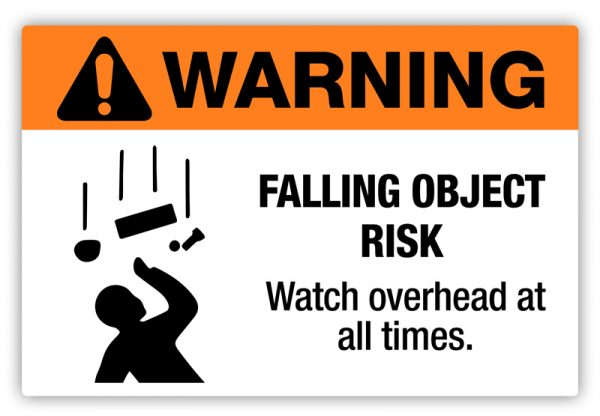 Falling Object Risk Label