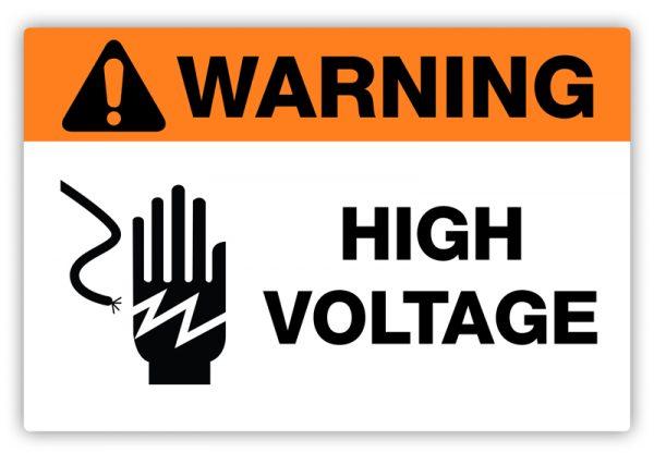 High Voltage Label