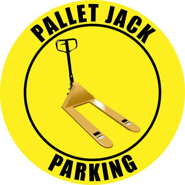 Yellow Pallet Jack Parking Sign