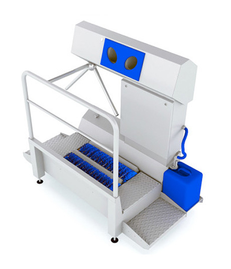 DZW-HDT HYGIENE STATION<br>(SOLE CLEANING & HAND DISINFECTION) 1