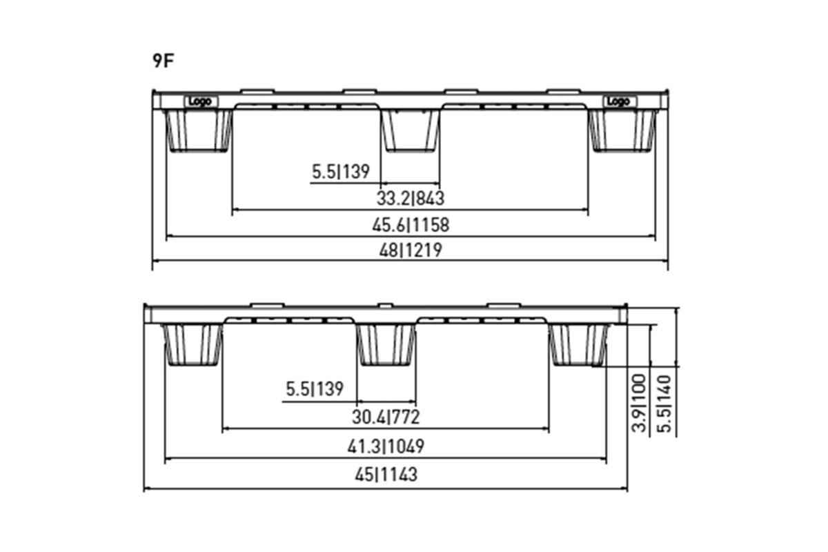 Exp 533 Plastic Pallet 3