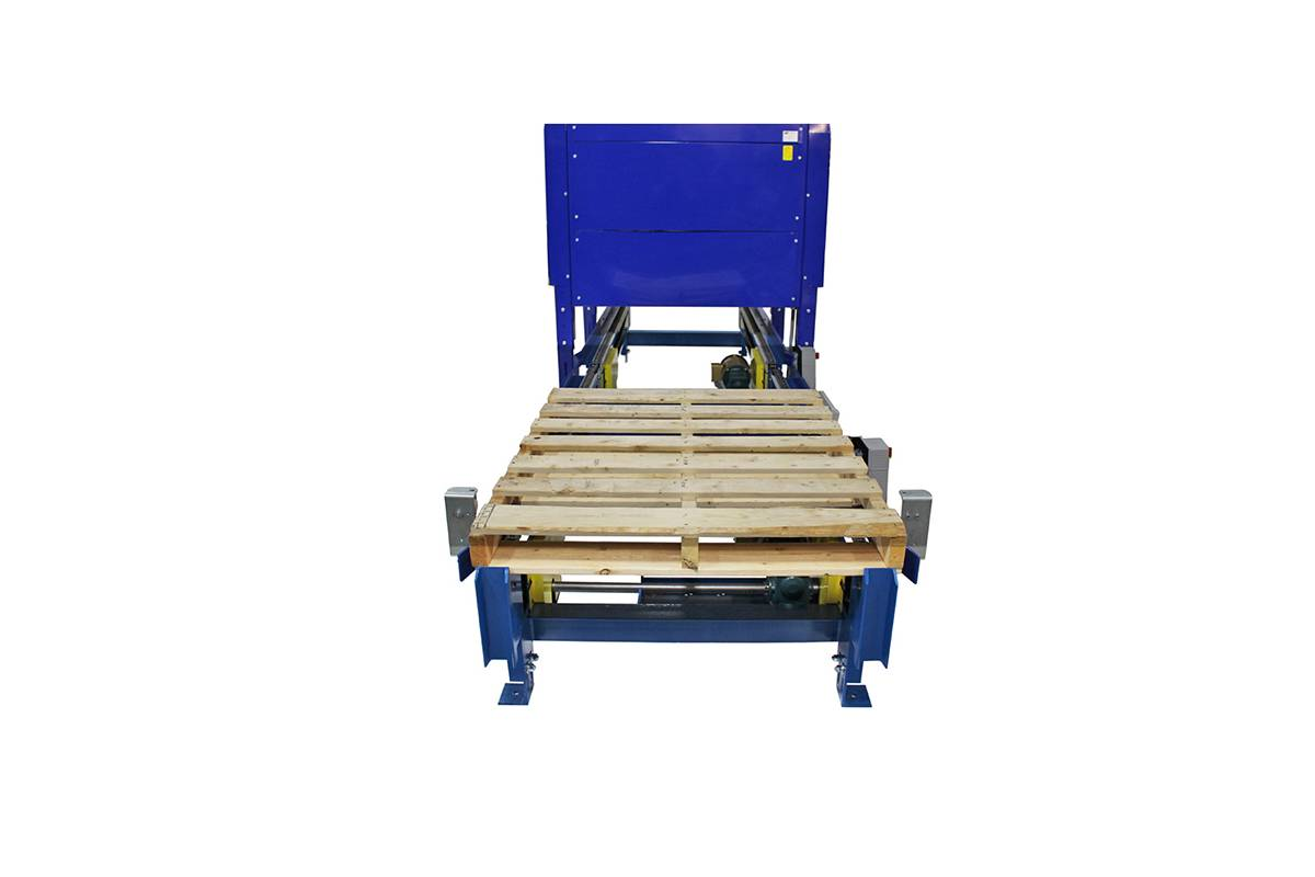 INLINE PALLET DISPENSER WOOD BLOCK PALLET 2