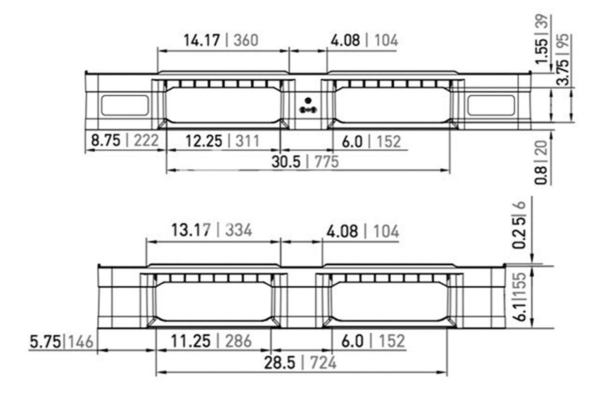 RCK 748 PLASTIC PALLET 6