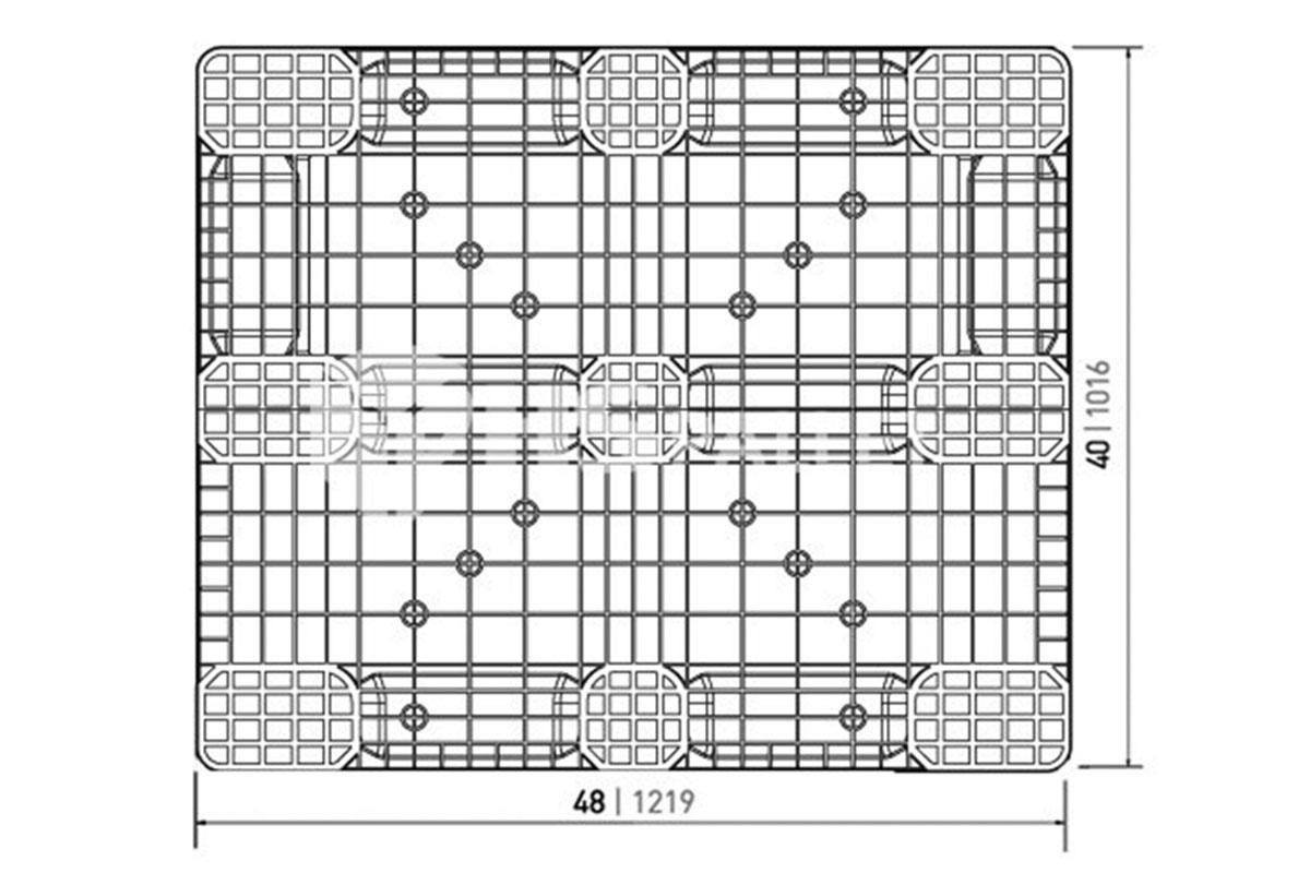 RCK 749 PLASTIC PALLET 2