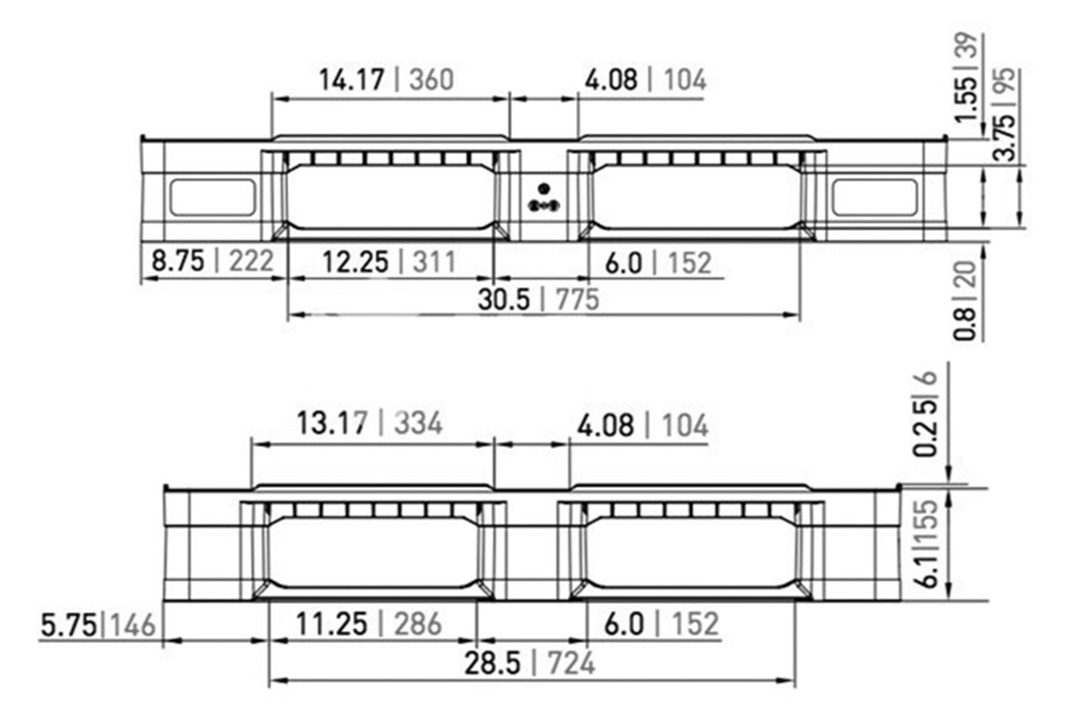 RCK 749 PLASTIC PALLET 3