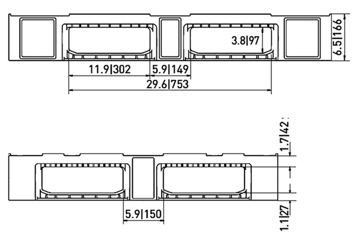 RCK 752 PLASTIC PALLET 6