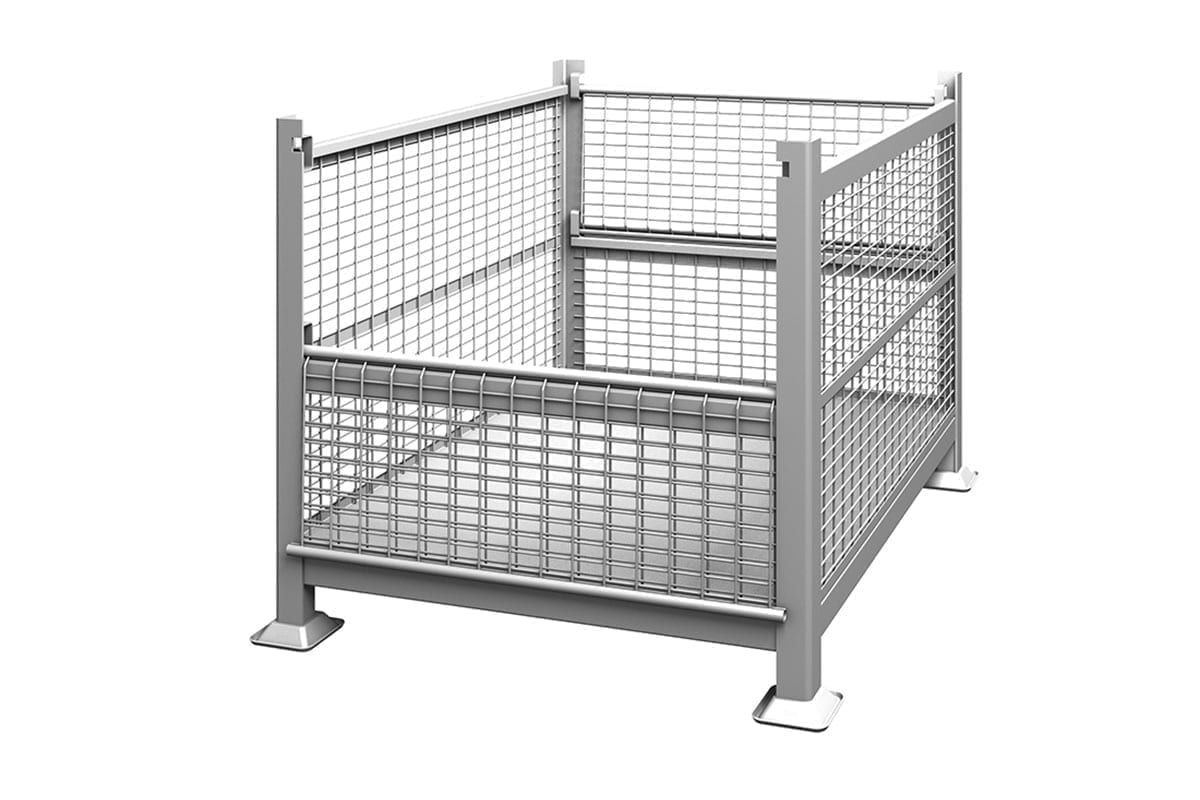 Rigid Wire Container Dual Drop Gate 1